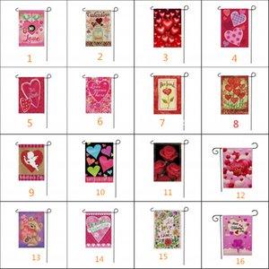 Dia flag banners amor do jardim série dos Namorados impressão frente e verso Dia bandeira feriado bandeira amor bandeira dos Namorados