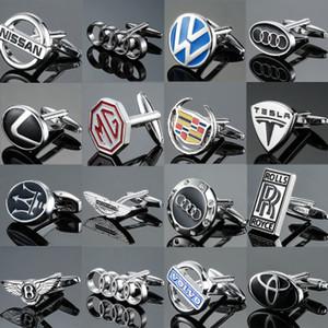 Üst Klasik High End Kol Düğmeleri Lüks Araba Logo Serisi Kol Düğmeleri Düğme Erkek Fransız Gömlek Kol Düğmeleri Studs En İyi Kalite