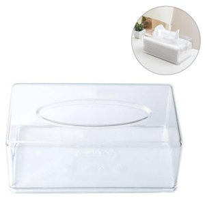 Caso caixa de papel transparente Container rolo de WC Home Office toalha guardanapo Log Tissue Holder Y200328