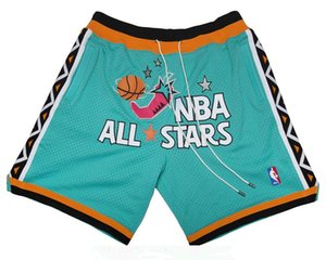 MEN 1996 All-Stars East Shorts Teal JUST DON Pocket pants By Mitchell & Ness S-2XL