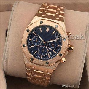 All Subdials Work Mens chronograph Stainless Steel Quartz Stopwatch Watch Top for men Watches fashion designer Wristwatches