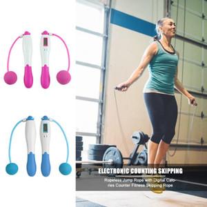 Seillose Springseil mit Digital-Kalorien Zähler Fitness Springseil Einstellbare Fitnesstraining Cordless Skipping