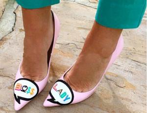 Hot Sale-Pink Bombas Sapatos de Mulher Stiletto saltos altos Apontou toe Slip on Sapatos Únicos Bombas Senhoras de Design Doce de Couro Sapatos Mujer
