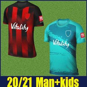 2020 2021 La ciliegia AFC maglie di calcio i bambini Kit LERMA Danjuma Divisa SOLANKE KING L.COOK BROOKS AFC rosso nero camicia a strisce 20/21