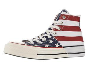 Mens Archivo reestructurados 1970 hola zapatos de lona de Deportes EE.UU. arranque hombres del hombre de la bandera de rayas de las estrellas del patín botas para mujer monopatín de las mujeres