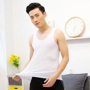 IOSdi Bamboo fiber wide shoulder conventional various styles tight sports casual men's Bamboo vest fiber wide shoulder conventional various