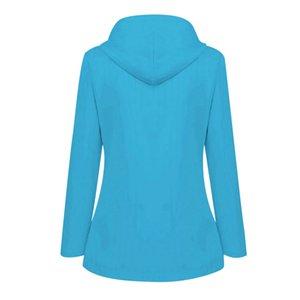 SAGACE Winter Jacket Women Solid Rain Jacket Outdoor Plus Waterproof Hooded Raincoat Windproof I401008 Outdoor Jackets Hoodies