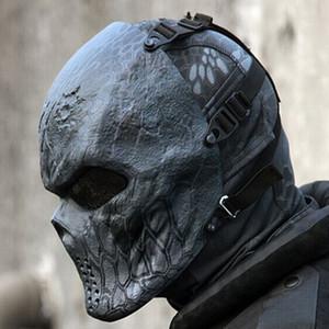 Creativo Skull Mask Wargame Chiefs tattica CS Cosplay mascherato mascherina mascherine Prank Divertente camuffamento cavallo faccia piena di Halloween regalo MX191109