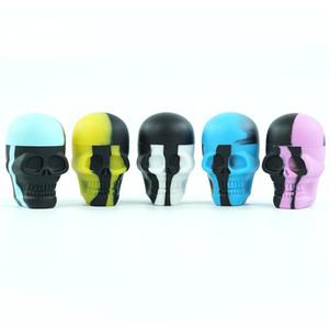 Toptan fiyat! Kafatası Renkli Şekil 15 ml yapışmaz Silikon Konteyner sınıf silikon küçük kavanozlar dabs balmumu konteynerler