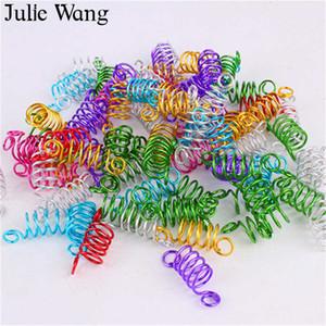 Julie Wang 10pcs Braid Dreadlock  Cuffs Clips Braid Spiral Cool Hair Links Rings Tubes Hair Styling Extension Accessory