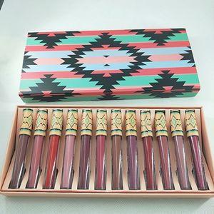 NOUVEAU Maquillage de marque LipGoss fondu Lip Gloss Gloss Sexy Maquillage Matte fondu Mat Liquified Longrifié Longue Lèvres 12 couleurs / set