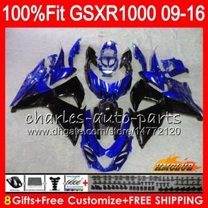 حقن لسوزوكي GSXR1000 2009 2010 2011 2012 2014 2015 2016 16HC.162 GSXR-1000 أزرق أسود جديد K9 GSXR 1000 09 10 11 12 13 15 16 Fairing