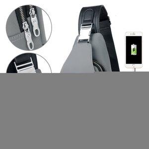 YABEISHINI новое поступление Crossbody сумки для мужчин груди пакет унисекс USB зарядка противоугонная посланники мешок путешествие водонепроницаемый плеча BagMX190930