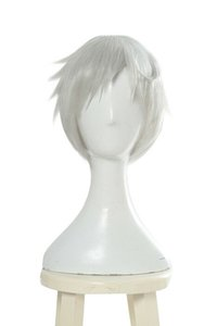 El prometido Neverland Norman Cosplay WIG White Short Straight Hair Anime Wigs