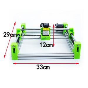 Máquina de grabado láser mini CNC 2017 desmontable ajustable con 500MW 1500MW 2500MW 5500MW láser 3D versión de impresión en color verde