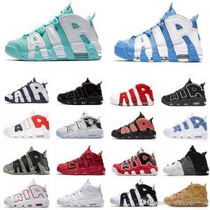 Com Box 2020 96 QS Olímpicos Varsity Maroon ar Mais Mens tênis de basquete 3M Scottie Pippen uptempo Chicago treinadores desportivos Sneakers Tamanho 11