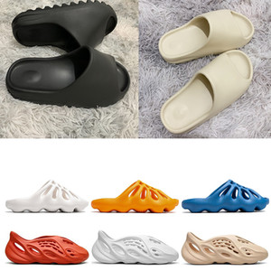 slides Stock X 2020 FIAP runner kanye west clog sandals Triple black slides fashion slipper women men tainers designer Sandals beach flip flops
