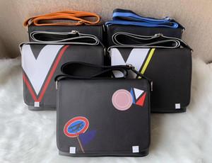 5 colori degli uomini Sacchetto degli uomini del cuoio genuino borsa nera computer portatile della cartella Shoulder Bag Messenger Bag 28CM
