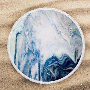 Tie Dye Yuvarlak Plaj Havlusu 2020 Sıcak Toalla playa Havuz Ev Piknik Mat Duş Havlu Plaj Battaniye Moda tiedye Serviette plage