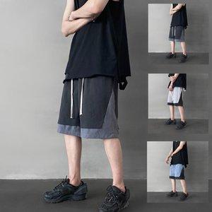 iiDossan Casual Patchwork Shorts Men Hiphop Fashion Shorts Cotton Streetwear Joggers Sport Short Pants Streetwear Punk Menswear