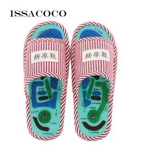 ISSACOCO 2019Home Slippers Acupoint Massage Slippers Foot Massage Shoes Home Women Indoor Slipper Zapatillas Pantuflas