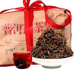 Organic Preto Natural Pu'er árvore velha Tea promoção 500g Yunnan Original solto Maduro Puer chá cozido Puer pacote do presente Tea