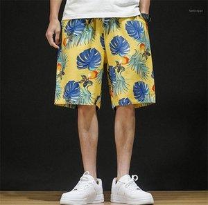 Calças relaxado Moda calças largas Mans Shorts 2020 Verão desginers Casual Curto esportes de praia calças de cordão
