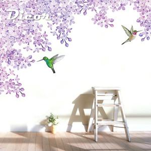 DICOR Wall стикера Главная Магазин Декор DIY Съемный Art Vinyl Mural для Гостиной TV Фоновая Dining Room QT597 T200601