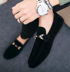 HOT Herrenschuhe echtes Leder Männer formale Geschäfts-Loafers Herren Leder Freizeitschuhe Schuhe Mocasin Hombre