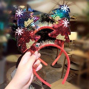 Decoração de Natal Headbands do boneco de neve de Santa Elk Antlers Headband Partido Night Market para meninas miúdos Hairband HHA951