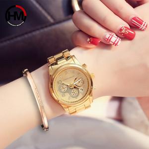 Hannah Martin Top Brand Luxury Женские часы Мода золото Женские часы Женские часы Часы Relogio feminino Релох Mujer T200519