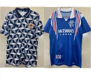 1996 97 Glasgow Rangers Retro Maillot de football 92 93 Irlande du Nord maison bleu # 8 GASCOIGNE # 11 Laudrup # 9 McCoist # 3 maillots de football ALBERTZ