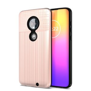 2 in 1 Dual Layer Cloth Pattern Slim Armor Case for Motorola Moto G7 Plus Z3 Play G6 E5 E6 Shockproof Cover