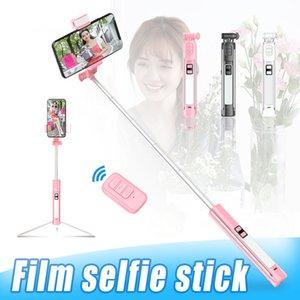 A18 universale Telefono selfie Stick treppiede con luce Bluetooth Remote Shutter selfie treppiede monopode con telecomando