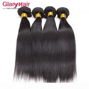 Hot Sale Cheap Raw Indian Hair Weave Bundles 4 pcs Straight Indian Remy Hair Extensions Top Quality No Chemical Processing Double Hair Weft