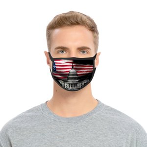 День независимости США маска для Леди Cubrebocas Цвет Розы Маски Washable Полиэфир США Independence Authenti Сбывания