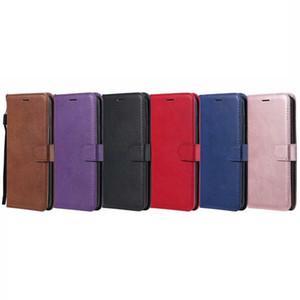 Brieftasche ledertasche für huawei p30 pro p smart 2019 sony xz4 galaxy s10 plus lite A6S C9 kern J4 kern Flip Abdeckung ID Card Slot Pouch Strap