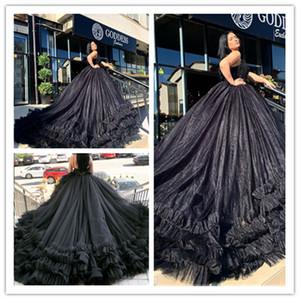 Siyah Gelinlik Modest Spagetti Abiye Artı boyutu Parti Abiye Özel Durum Elbise Dubai elbiseler de soire