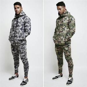 Kış Erkek Tasarımcı Ceket Moda Kamuflaj Açık Eğitim Koşu Fermuar Fly İpli Hoodies Erkek Tasarımcı Hırka