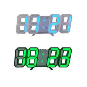 Настольные часы дисплей часы будильник светодиодные цифровые часы настенные 3D Настольные часы календарь температура дисплей яркость регулируется