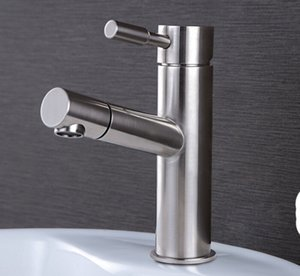 Free Shipping 304 stainless steel Pull Out bathroom brushed nickel basin Kitchen Sink Mixer Tap suitable Price Faucet BF088