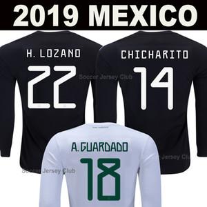 2019 Long Sleeve México Soccer Jersey Chicharito LOZANO CHUCKY completo manga Gold Cup camisas do futebol MARQUEZ dos Santos Camisetas de futbol