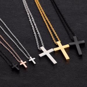 Arbeiten Sie heißen Verkauf Frauen Halskette Herren Halskette 18k Gold-316L Edelstahl-Kreuz-Anhänger Halsketten Klassische Luxusketten Anhänger Halskette