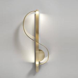 Nordic simple posmoderna de estar lámpara de pared de cobre de habitaciones atmosférica Estudio del Corredor de noche Hotel Fashion completa