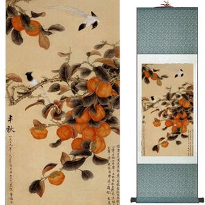 Birds and flower painting silk scroll painting traditional Chinese art painting home decoration painting2019072015