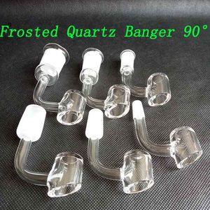 4 mm de espesor esmerilado de cuarzo Banger club Domeless Cubo de uñas 90/45 Grado 10mm 14mm 18mm mujer hombre Para Bongs de cristal de tubo 18 estilos