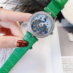 women watches 36mm diamond bezel iced out lady watches real leather strap fashion quartz movement Wristwatches montre de luxe reloj de lujo