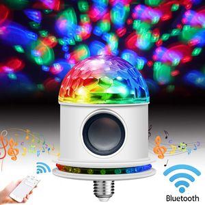 LED Music Light Bulb E27 led Light Bulb Party Wireless Bluetooth Speaker Color Changing Built-in Audio Speaker AC85-265V