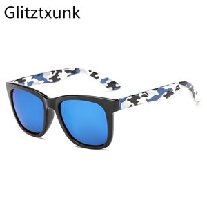 Glitztxunk 2020 Classical Camouflage Vintage Sunglasses Homens e Mulheres versáteis Sunglasses Tendência Praça Driving Homens