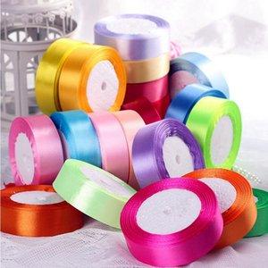 25 мм 25 Ярдов 33 цвет можно выбрать Шелковая Атласная Лента Для Свадьбы торт Украшение Подарка DIY Craft Упаковка Поставки Riband